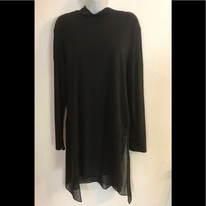 LS Eileen Fisher Stretch Silk Jersey Tunic LG